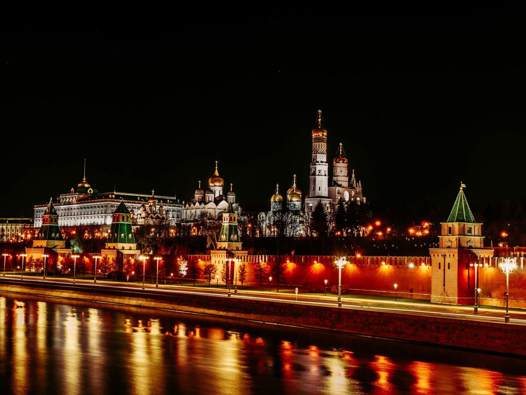 Ночной Кремль, фотограф Яна Фахуретдинова