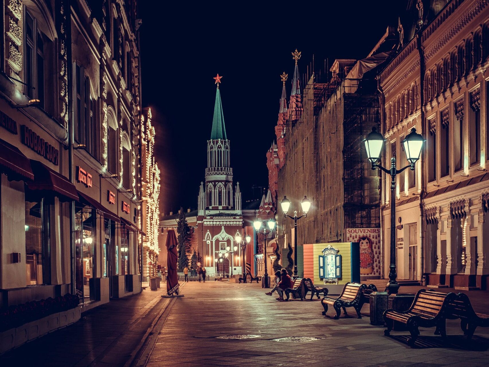 Ночной переулок у Кремля, фотограф Яна Фахуретдинова